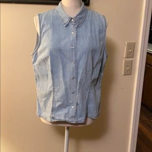 Jean Vest with Pearl Snaps